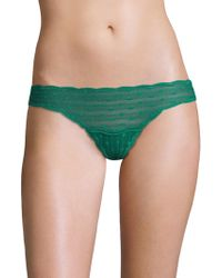 Cosabella - Dots Pattern Lace Low-rise Thong - Lyst