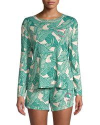 Monrow - Banana Leaf Two-piece Pajama Set - Lyst