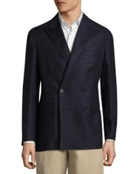 Polo Ralph Lauren - Twill Double Breasted Coat - Lyst