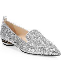Nicholas Kirkwood - Beya Metallic Leather Beveled Heel Loafers - Lyst