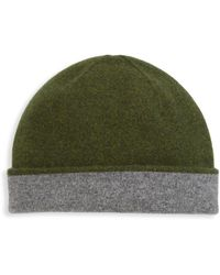 Saks Fifth Avenue Collection Reversible Cashmere Beanie - Green
