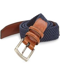Saks Fifth Avenue   Collection Stretch Leather Belt   Lyst