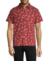 A.P.C. - Printed Button-down Shirt - Lyst
