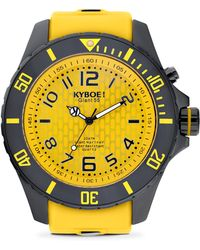 Kyboe - Stainless Steel & Silicone Strap Watch - Lyst