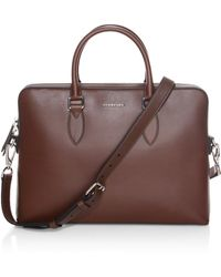 Burberry - Barrow Smooth Leather Briefcase - Lyst