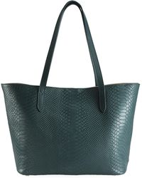 Gigi New York - Teddie Python-embossed Leather Tote - Lyst