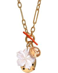 Lizzie Fortunato - Windsor 18k Goldplated & Multi-stone Charm Necklace - Lyst