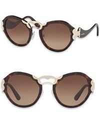Prada - 54mm Metal-detail Sunglasses - Lyst