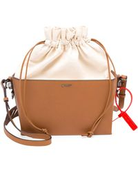 Off-White c/o Virgil Abloh - Leather And Canvas Soft Boxy Bag - Lyst
