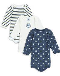 Petit Bateau - Baby Boy's Three-piece Cotton Bodysuit Set - Lyst