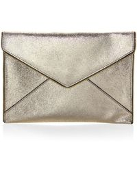 Rebecca Minkoff - Leo Cracked Leather Clutch - Lyst