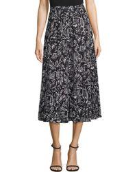 Lafayette 148 New York - Adalia Graphic Silk Midi Skirt - Lyst