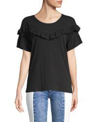 PAIGE - Adalie Ruffle T-shirt - Lyst