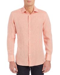 Saks Fifth Avenue - Collection Linen Button-down Shirt - Lyst