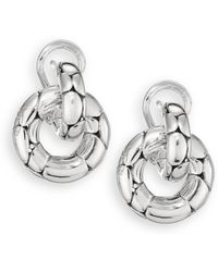 John Hardy - Kali Sterling Silver Small Doorknocker Earrings - Lyst