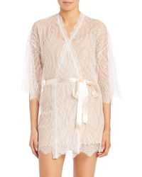 Hanky Panky - Alexandra Three-quarter Sleeve Lace Robe - Lyst