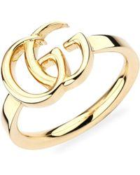 Gucci - Running G Logo Ring - Lyst