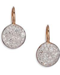 Pomellato - Sabbia Diamond & 18k Rose Gold Drop Earrings - Lyst