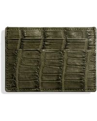 Shinola - Alligator Leather Lined Card Case - Lyst