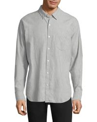 Bonobos - Men's Slim-fit Brushed Twill Button-down Shirt - Heather Sky - Size Xl - Lyst