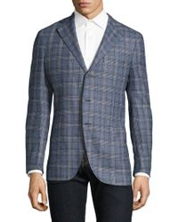 Eidos | Slim-fit Glen Plaid Wool Melange Sportcoat | Lyst