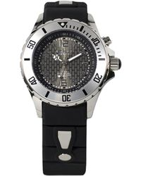 Kyboe - Power Black Silicone & Stainless Steel Strap Watch/40mm - Lyst