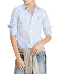 Polo Ralph Lauren - Stretch Slim Striped Shirt - Lyst