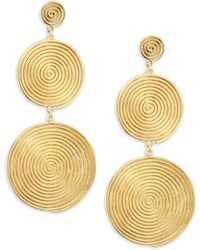Elizabeth and James - The Sullivan Collection 24k Gold Plated Earrings - Lyst