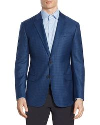 Armani - Houndstooth G Line Wool Sport Coat - Lyst