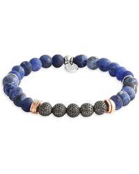 Tateossian - Blue Stonehenge Beaded Bracelet - Sodalite - Size Medium - Lyst