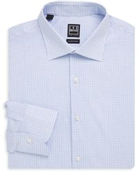 Ike Behar | Checked Button-front Shirt | Lyst