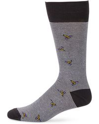 Saks Fifth Avenue - Collection Striped Bees Mid-calf Socks - Lyst