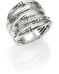John Hardy - Bamboo Sterling Silver Wide Ring - Lyst