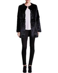 Adrienne Landau | Rabbit Fur Coat | Lyst