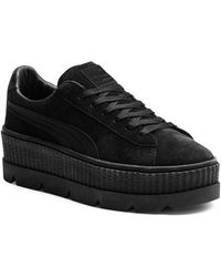 PUMA - Cleated Suede Creeper Platform Sneakers - Lyst