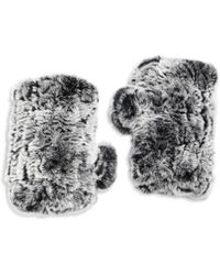 Surell | Rabbit Fur Texting Gloves | Lyst