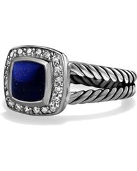 David Yurman - Petite Albion Ring With Lapis Lazuli And Diamondsfrom The Albion Collection - Lyst