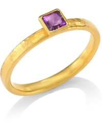 Gurhan - Delicate Hue Square Amethyst Stacking Ring - Lyst