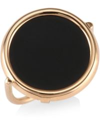 Ginette NY - Black Onyx & 18k Rose Gold Ring - Lyst