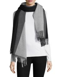 Donni Charm - Colorblock Wool Blanket Scarf - Lyst