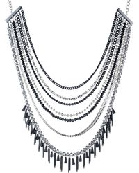 ABS By Allen Schwartz - Black Magic Multi-row Necklace - Lyst