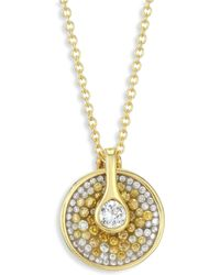 Plevé - Opus Two-tone Diamond Pendant Necklace - Lyst