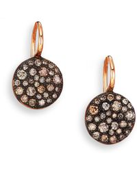 Pomellato - Sabbia Brown Diamond & 18k Rose Gold Drop Earrings - Lyst