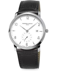 Frederique Constant - Stainless Steel & Leather Strap Watch - Lyst
