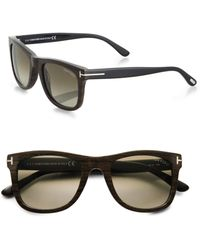 0271efc591 Lyst - Tom Ford 58mm Shield Sunglasses in Brown for Men