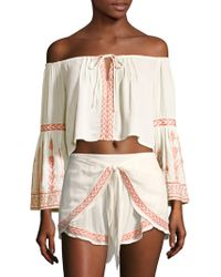 L*Space - Crawford Off-the-shoulder Top - Lyst
