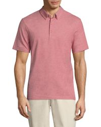 AG Green Label | Berrian Heathered Polo | Lyst