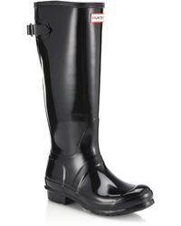 HUNTER - Original Back-adjustable Gloss Rain Boots - Lyst