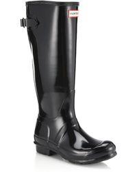 Hunter | Original Back-adjustable Gloss Rain Boots | Lyst