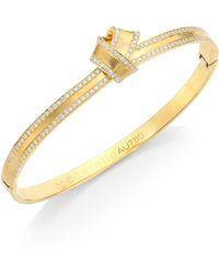 Carelle - Knot Diamond-trim Bangle - Lyst